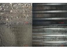 铝翅片清洗前后对比
